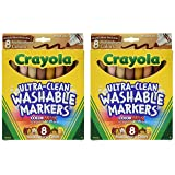 Crayola Washable Multicultural Colors Conical Tip Markers 8 Count - 2 Packs (Color: 2 Packs)