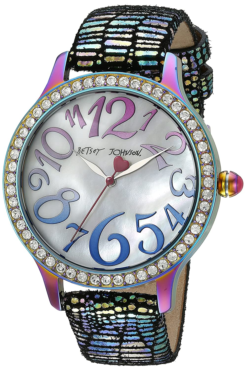 Betsey Johnson Women's BJ00564-01 Analog Display Quartz Multi-Color Watch