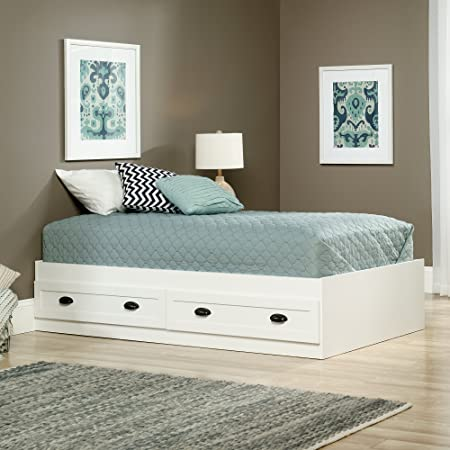 Sauder County Line Twin Platform Bed in soft white
