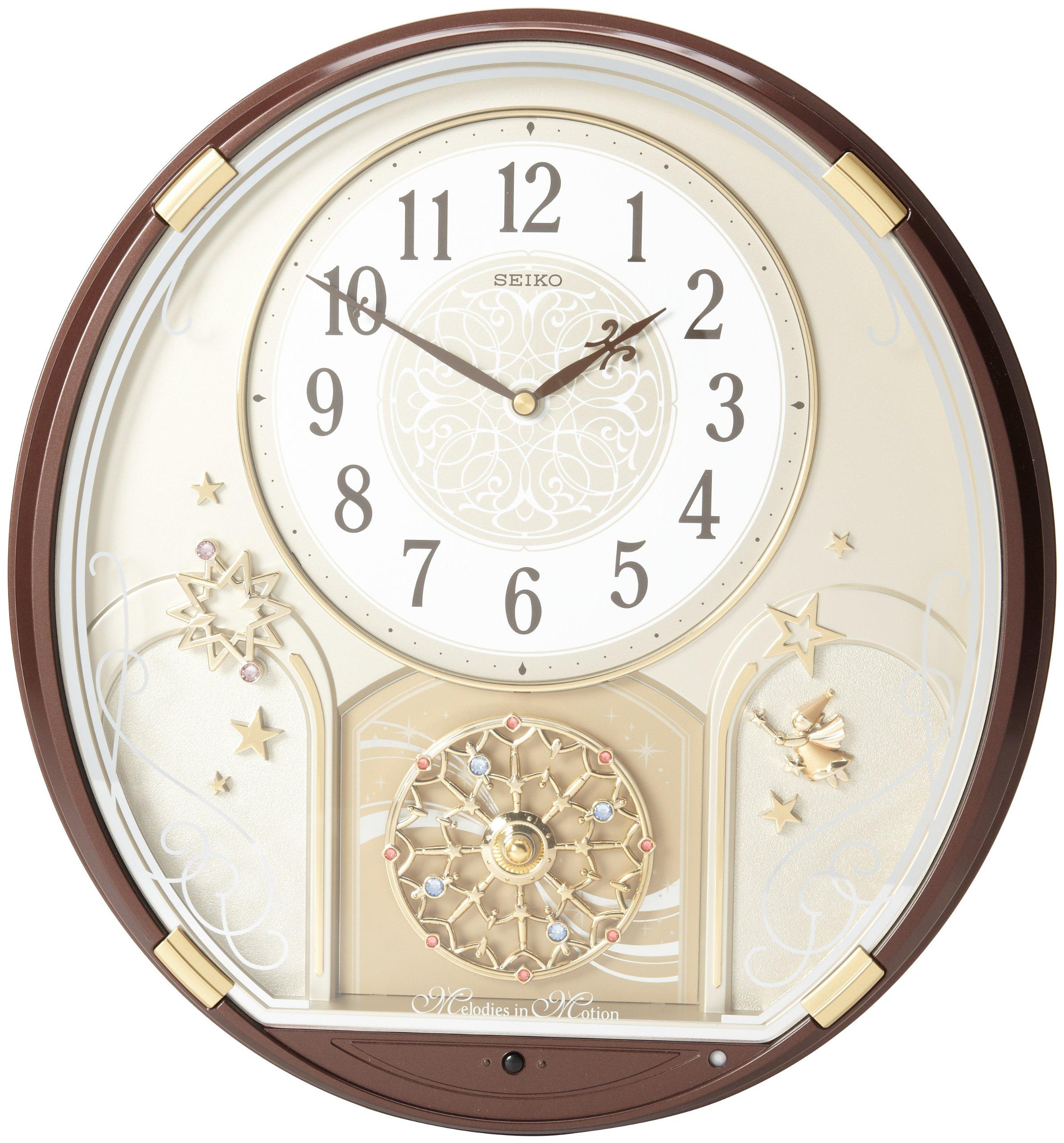 Seiko Qxm470brh Melody In Motion Clock Ebay