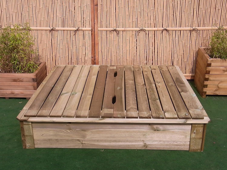 Sandkasten Deckel 150 x 150 cm Holz Sandbox Sandkiste Buddelkasten Spielkasten günstig kaufen
