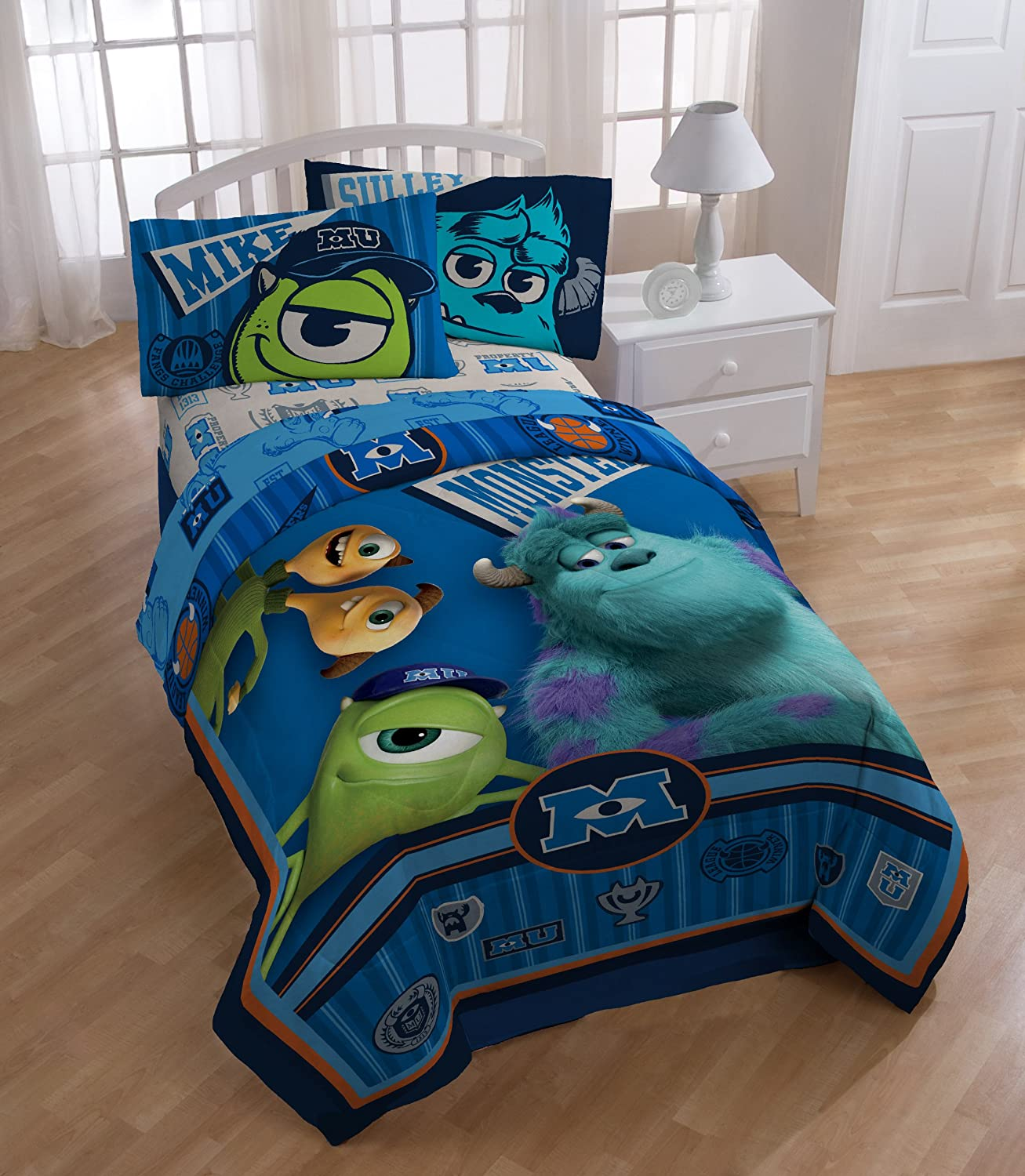 Disney Monsters Inc Twin Bed Comforter Scare University
