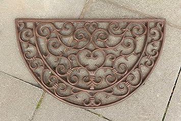 Fussmatte Fussabtreter Türmatte Eisen Landhausstil im antik Stil braun