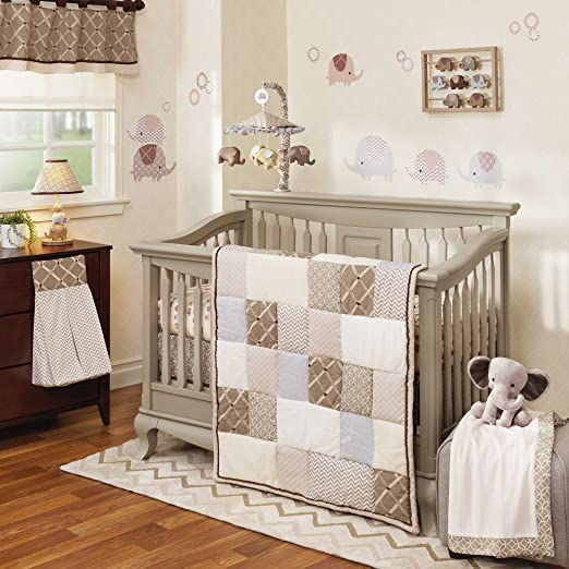 Lambs and Ivy Oatmeal Cookie Crib Bedding