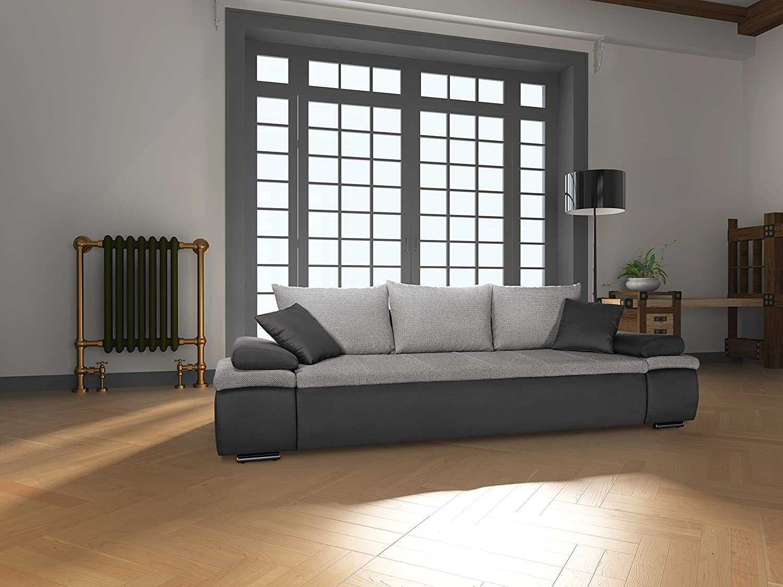 Mein Sofa CRD2 Schlafsofa Cali 3DL, 3er Sofa mit Schlaffunktion und Bettkasten, circa 277 x 85 x 101 cm, Sitzhöhe 42 cm, Mix aus Kunstleder und Webstoff günstig online kaufen
