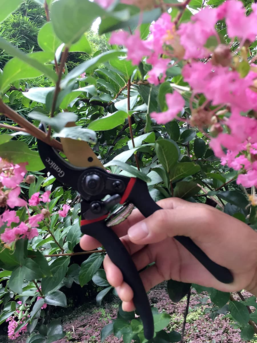"""Gonicc 8"""" Professional Premium Titanium Bypass Pruning Shears (GPPS-1003), Hand Pruners, Garden Clippers."""