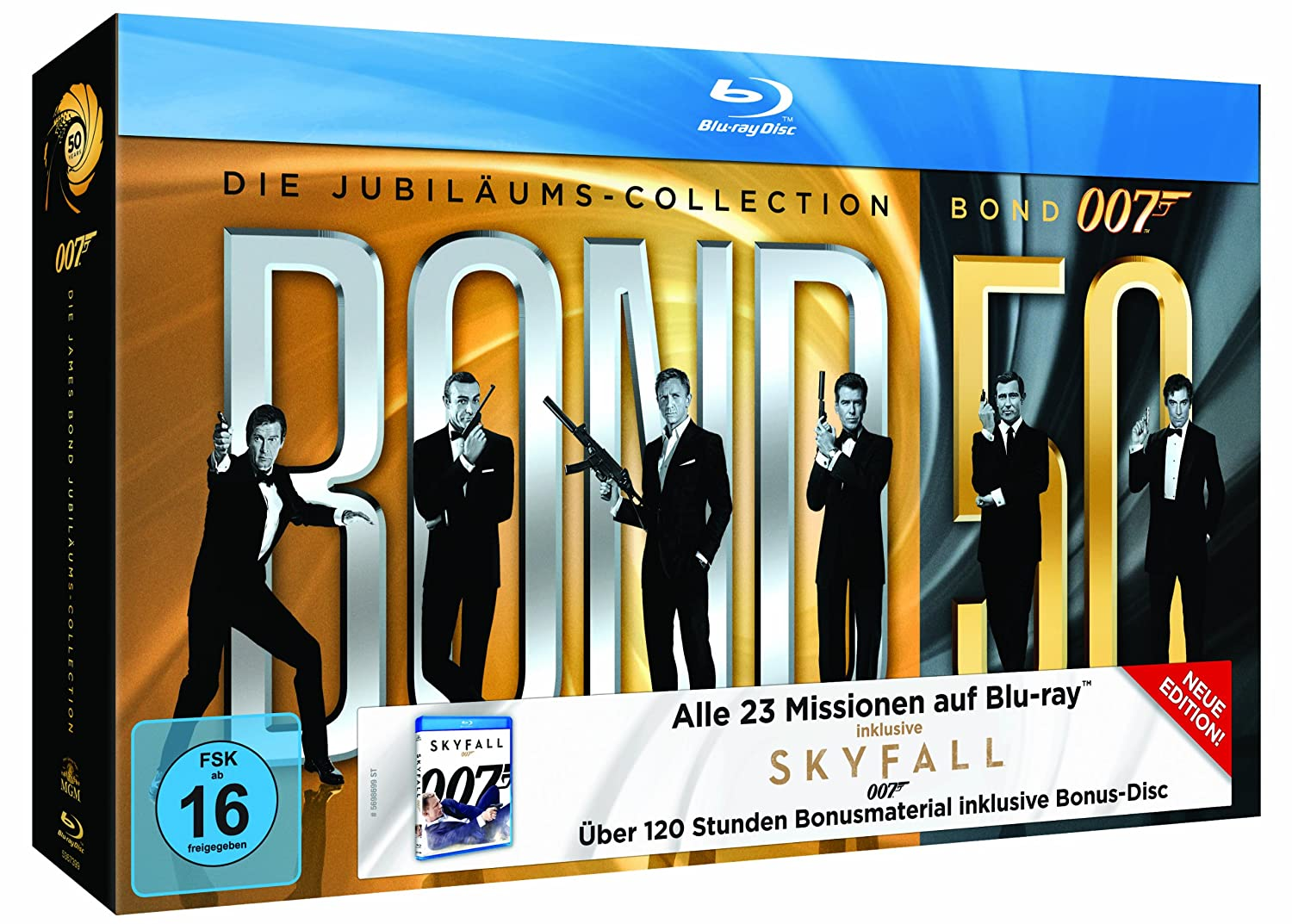 Alle 23 James Bond 007 Filme auf Bluray für 95€