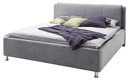 sette notti  Polsterbett mit Bettkasten 140x200 Stoffbezug Grau, Art Nr. 1232-99-3000
