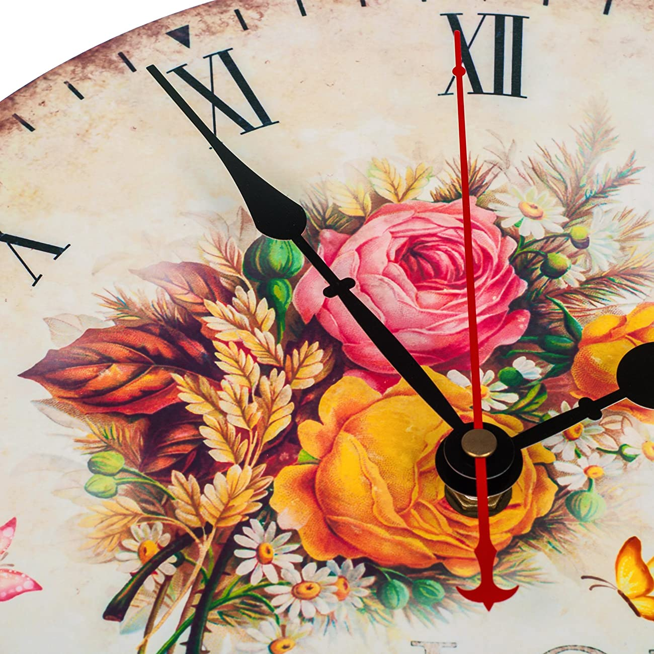 KI Store Silent Wall Clock Decorative, Premium Vintage Wall Clocks 12