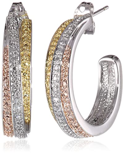 18k-Yellow-and-Rose-Gold-Plated-Brass-and-Diamond-Accent-J-Hoop-Earrings