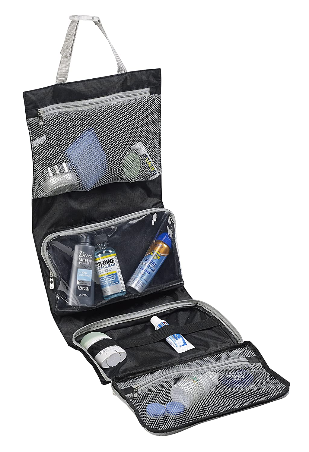 Lewis N Clark Unisex Hanging Toiletry Travel Kit at Amazon.com