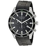 Claude Bernard Men's 10223 3NVCA NV Aquarider Analog Display Swiss Quartz Black Watch