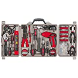 Apollo Tools DT0738 161 Piece Complete Household Tool Kit with 4.8 Volt Cordless Screwdriver and Most Useful Hand Tools and DIY accessories (Color: multi/none, Tamaño: 161 pc.)