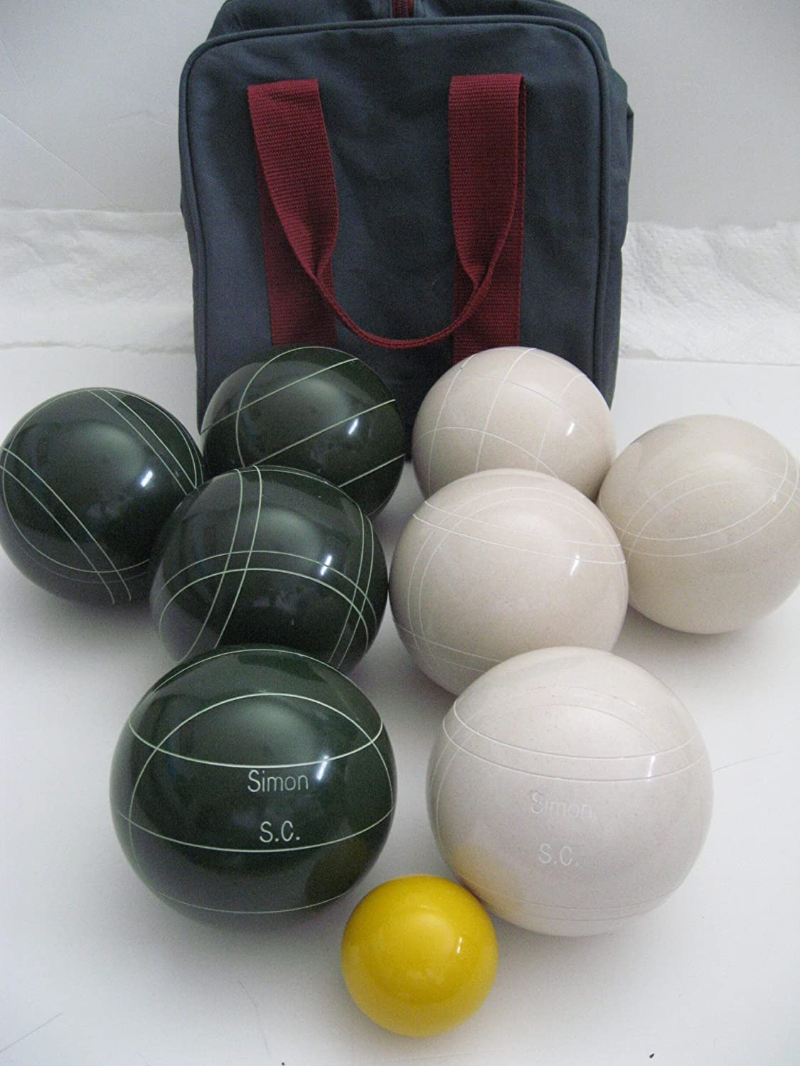 Premium Quality Engraved EPCO Bocce package – 107mm EPCO White and Green ball… online kaufen