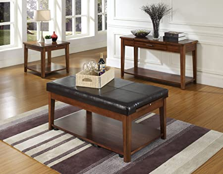 Somerton Davis 4 Piece Set - Lift Top Cocktail Table, Sofa Table & 2 End Tables 625-15,625-02,625-05