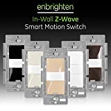 GE Enbrighten Z-Wave Plus Smart Motion Light Switch, Compatible with Alexa, Google Assistant, SmartThings, Wink, Zwave Hub Required, Repeater/Range Extender, 3-Way Compatible, Ivory, 38197 (Color: Ivory, Tamaño: Switch)