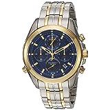 Bulova Men's Quartz Stainless Steel Casual watchMulti Color (Model: 98B276) (Color: blue)