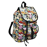 Pikachu 16' Full Sized Canvas Ruck Backpack With Drawstring Closure & Front Pocket! (Color: red, Tamaño: One_Size)