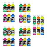 Sargent Art 22-2806 Fluorescent Acrylic Paint Set, 4 Ounce, 6-Pack (5-Pack) (Color: 5-Pack)