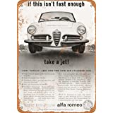 1963 Alfa Romeo Giulia 1600 Vintage Look Sign
