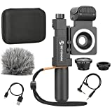 Sevenoak SmartCine ~ Complete Universal Smartphone Video Kit with Phone Rig, Built-in Stereo Microphone & LED Light, Wide-Angle & Fisheye Lenses - Compatible with iPhone & Android Smartphone