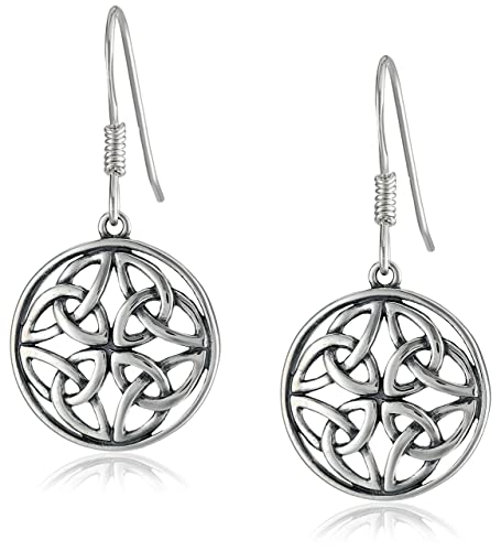 Celtic-Knot-Round-Drop-Earrings