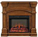 Muskoka MEF2391BWL Oberon Electric Fireplace Mantel with Breakfront Design