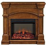 Muskoka MEF2391BWL Oberon Electric Fireplace Mantel with Breakfront Design