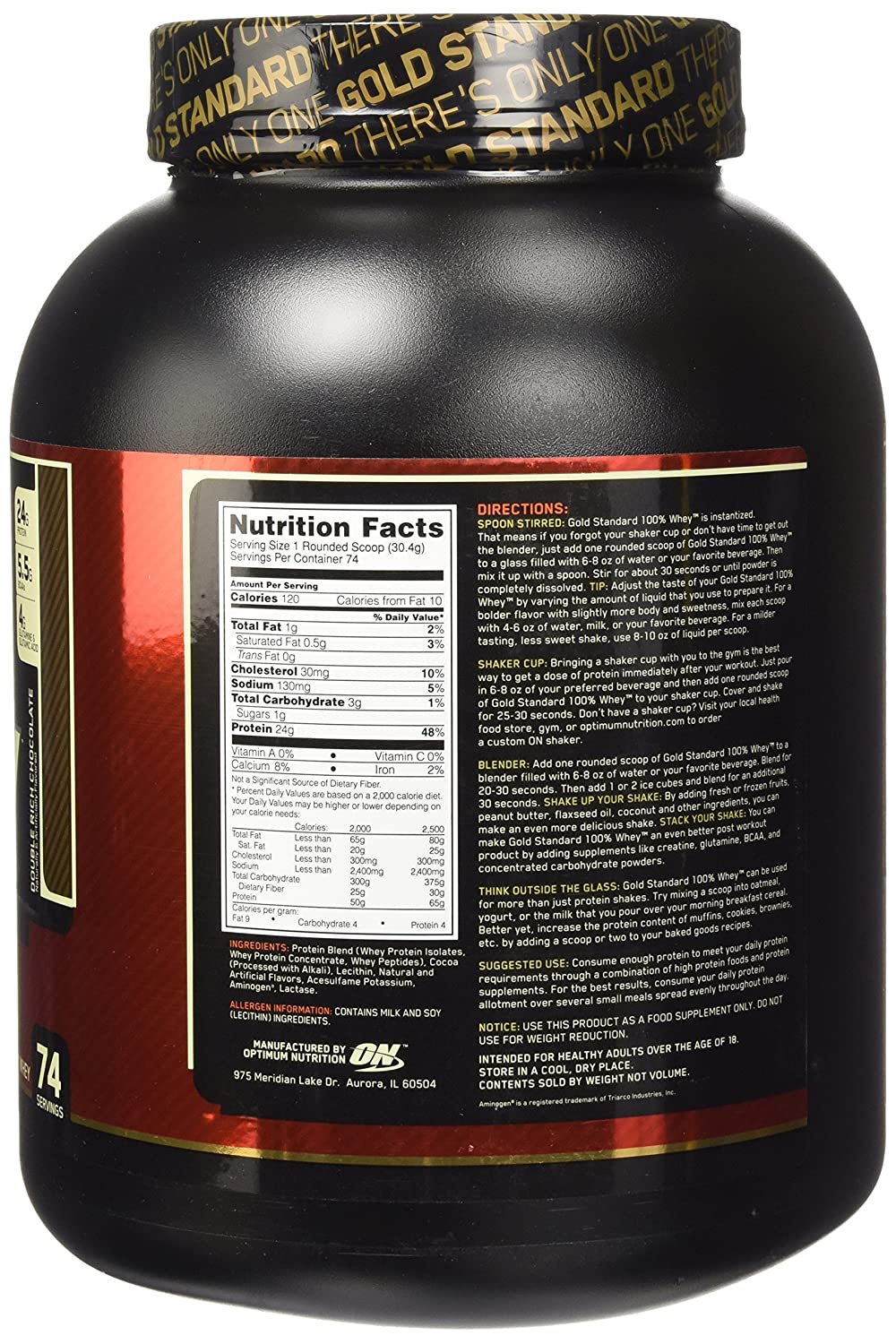 ON Whey Gold Standard - 5 lb Double Rich Chocolate