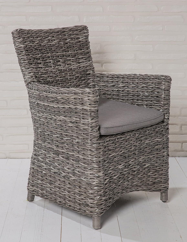 6x Luxus Polyrattan Gartenstuhl Sessel Rattan Stuhl Gartenstühle Gartenmöbel Gartensessel Loungesessel Relaxsessel Gartenstühle Balkonstuhl