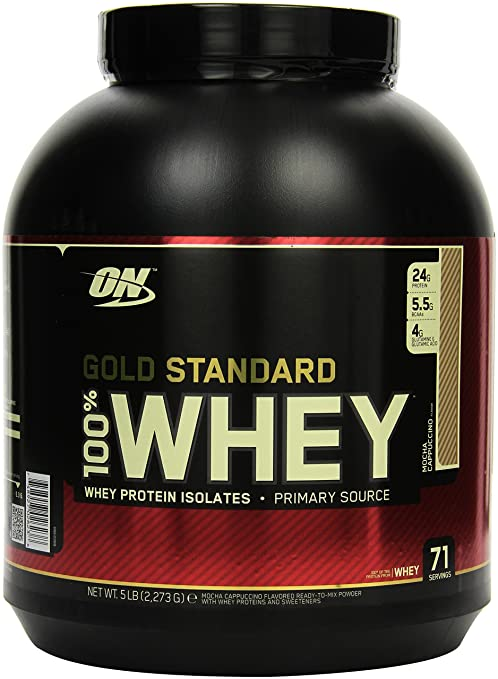 Optimum Nutrition 100 % Whey Gold Standard Protein Mocca Cappuccino, 1er Pack (1 x 2.273 kg )