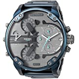 Diesel Men's 'Mr Daddy 2.0' Quartz Stainless-Steel-Plated Watch, Color:Blue (Model: DZ7414) (Color: Blue, Tamaño: One Size)