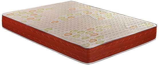 Visco SmartCell Plus 90-Colchn viscoelstico cellulare Moderno Cama de 140 cm Blanco/Naranja