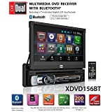 Dual Electronics XDVD156BT Multimedia Retractable & Detachable 7-inch LED Backlit LCD Touchscreen Single DIN Car Stereo Receiver with Built-in Bluetooth, CD/DVD, USB, microSD Card & MP3 Player (Tamaño: 7 inches)