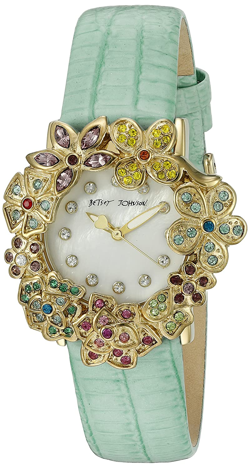 Betsey Johnson Women's BJ00574-01 Analog Display Quartz Green Watch