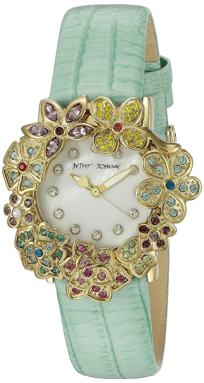 Betsey Johnson Women's BJ00574-01 Analog Display Quartz Green Watch