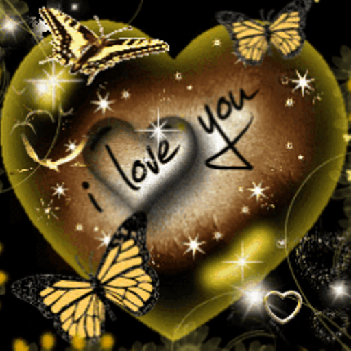 Amazon.com: I Love You Heart Butterfly Live Wallpaper: Appstore for Android