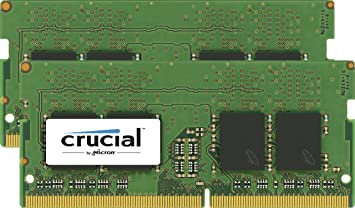 Crucial 16GB Kit (8GBx2) DDR4 2400 MT/s (PC4-19200) DR x8 Unbuffered SODIMM 260-Pin Memory - CT2K8G4SFD824A at amazon