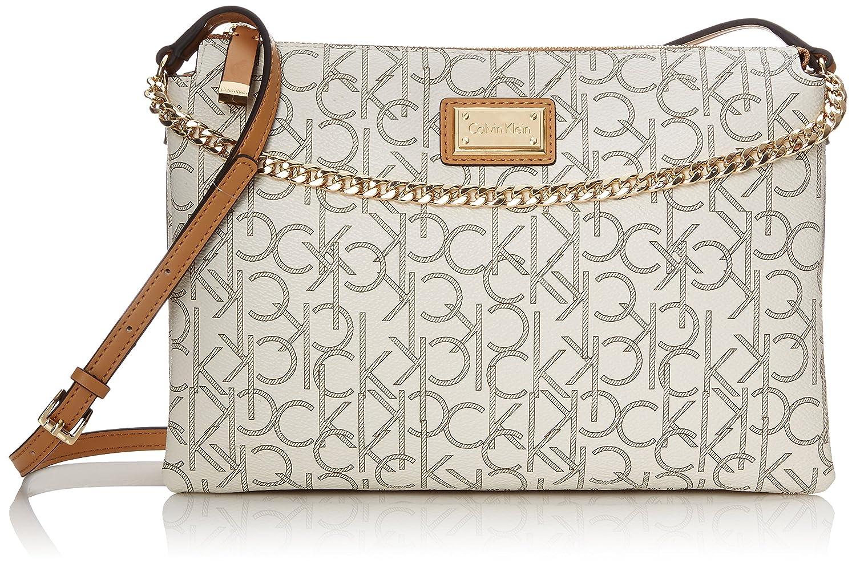 Calvin Klein Monogram Zip Cross Body Bag calvin klein monogram cross body bag