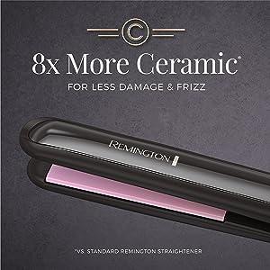 Alisador de cabello Remington S9500 T|Studio de cerámica , 1 pulgada, color negro