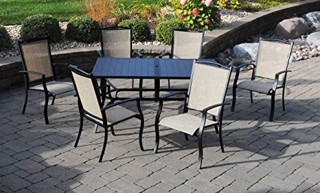 Outdoor Innovations Cape May 7 Piece Aluminum Dining Set