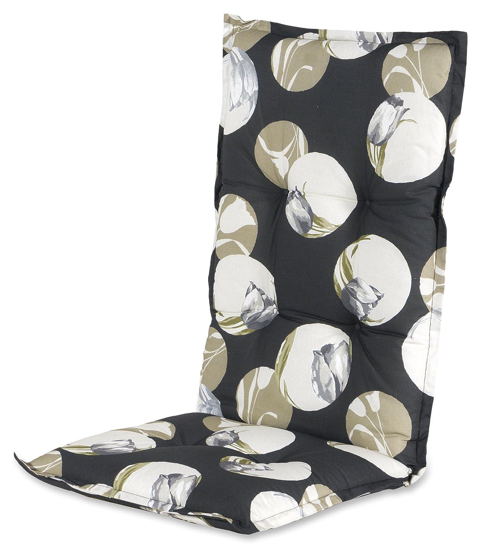Hartman 14705109 Kissen Hochlehner 123 x 50 cm, Dessin Blossom schwarz günstig bestellen