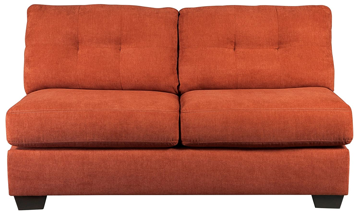 Ashley Delta City Armless Loveseat in Rust