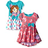 Disney Little Girls' Toddler Sofia the First 2 Pack Dresses, Multi, 3T (Color: Multicolor, Tamaño: 3T)