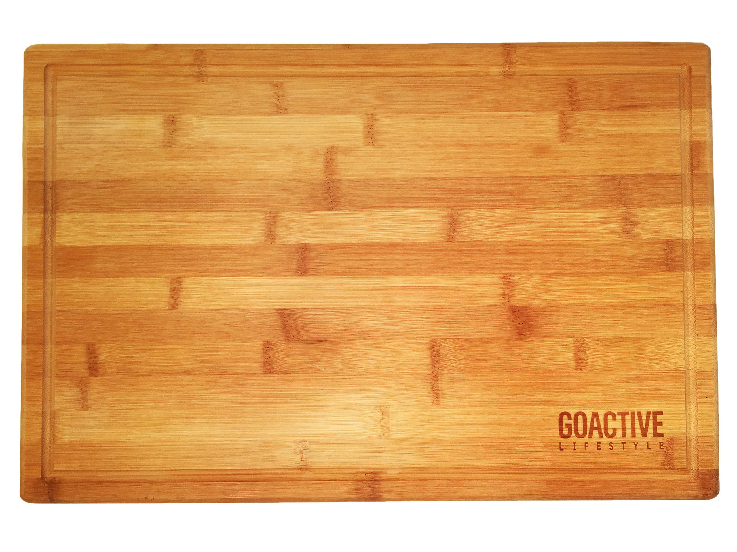 go active lifestyle extra large 18x12 bamboo cutting board with drip groove ebay. Black Bedroom Furniture Sets. Home Design Ideas