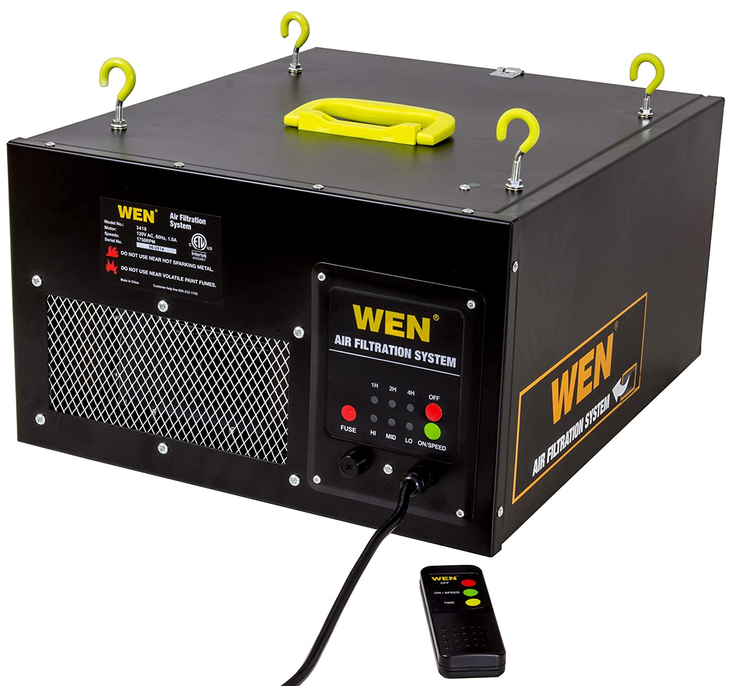 Air Filtration Units : Wen speed remote controlled air filtration system
