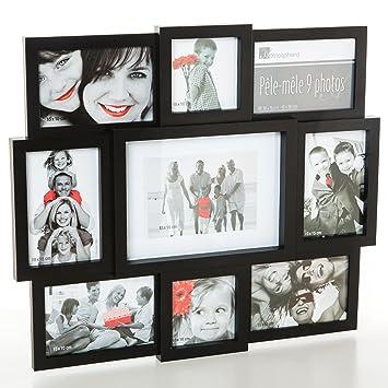 cadre photo p le m le p le m le mural coloris noir capacit 9 photos cuisine photos cuisine. Black Bedroom Furniture Sets. Home Design Ideas