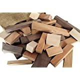 Wooden Blocks, 5 Pounds of Premium Hardwood in Assorted Sizes, Natural (Color: natural, Tamaño: assorted)