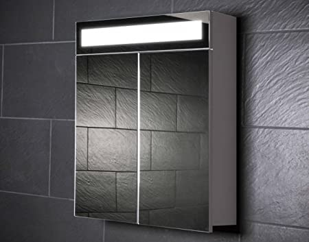 Galdem EVEN60 Bathroom Cabinet 60 CM with 2 Doors / Trendy Lighting LED Lighting / Soft Close Function / Plug Socket