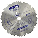 IRWIN Tools Classic Series Steel Cordless Circular Saw Blade, 6 1/2-inch, 60T, .078-inch Kerf (11220) (Tamaño: 6-1/2